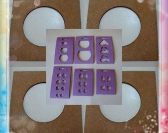 Lot of 10 templates for thermoforming fofuchas heads + templates to paint eyes and mouths free