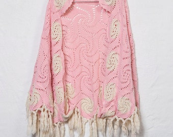 Crochet Knit Cape