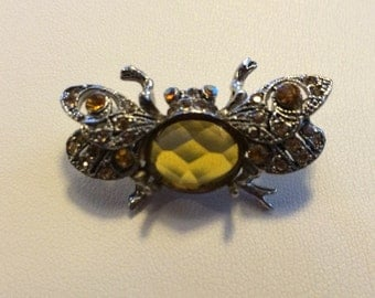 Vintage Bug Brooch Pin
