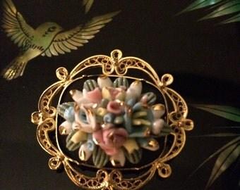 Detailed Flower Pin