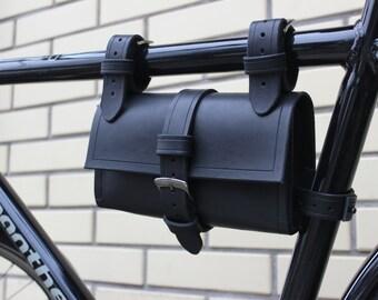 Handmade leather bicycle / motorbike tool bag