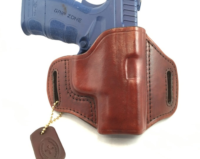 Springfield XD SC MOD 2 .45 (zero cant) - Handcrafted Leather Pistol Holster