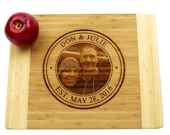 Engraved Photograph Cutting Board, Engraved Cutting Board, Wedding Gift, Housewarming Gift, Anniversary Gift