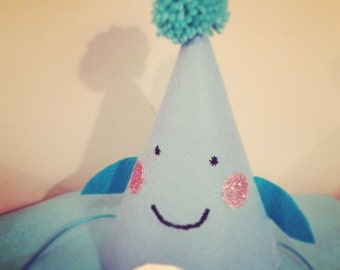 Birthday whale party hat