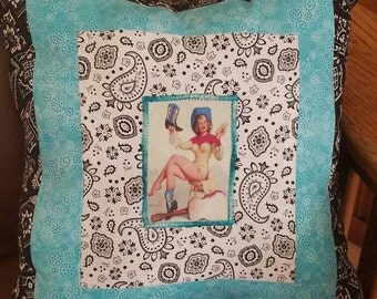 Pin-Up Cowgirl Pillow