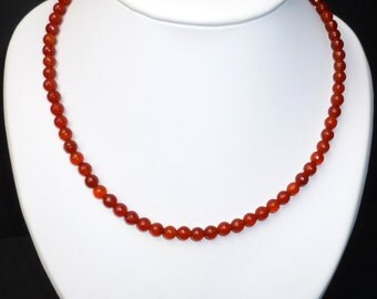 Handmade necklace of faceted Carnelian