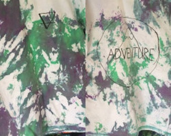 Adventure tie dye shirt