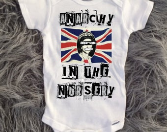 Anarchy Baby, punk rock Themed Tee, Babies with attitude, Kids with attitude, punk rock baby, rock and roll baby shower, toddler