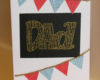 Handmade / Hand crafted DAD Fathers Day / Birthday Card