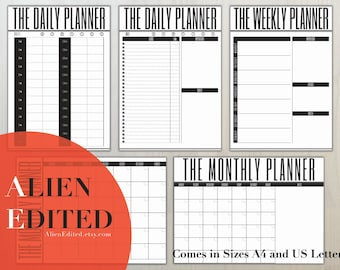 DAY/WEEK/MONTH Planner, Daily Agenda, Daily Organiser, Organiser, Agenda, Planner, Weekly Planner, Monthly Planner, Day Planner
