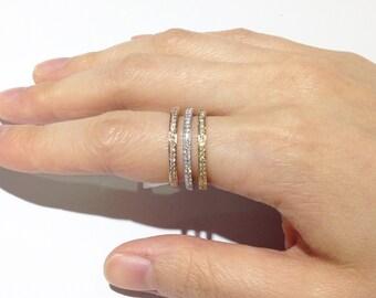 White Diamonds 18k Rings (gold, white gold, rose gold)
