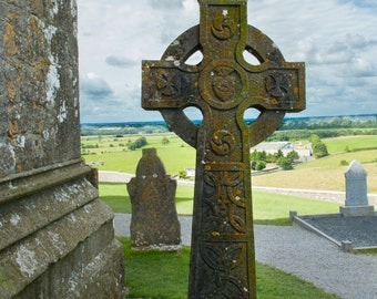 Celtic Cross Photography, Travel Photography, Ireland Photography, Graveyard, Rock of Cashel, Ireland