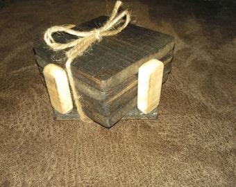 Rustic Handmade Reclamed Wooden Coasters