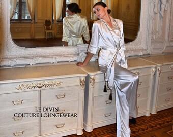 Silk Pajama/ Loungewear/ Silk Lingerie/ Nightwear/ Homewear/ Gift for Her