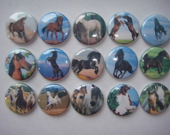Horse Buttons set of 15