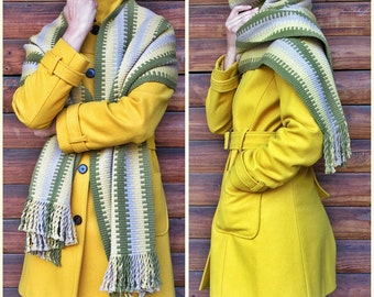 Mapuche shawl, blanket scarf wool, couverture, handwoven textiles, bed runner, echarpe, striped shawl , rustic, ethnic, hippie, indigenous