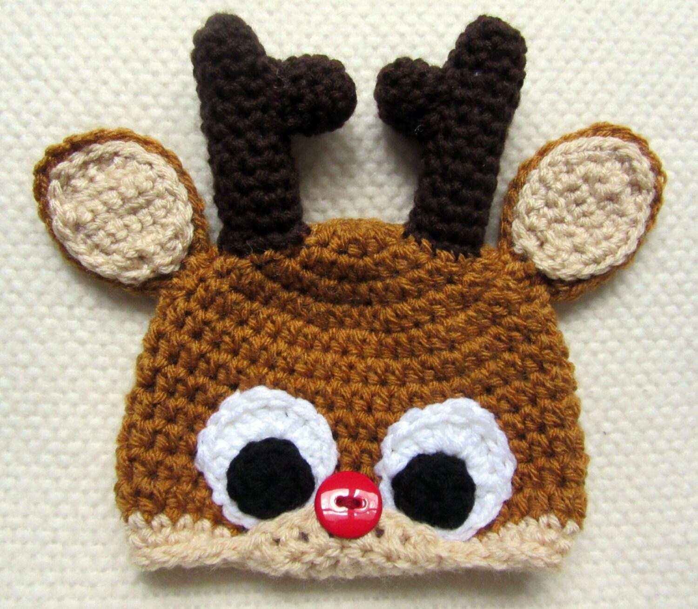 Crochet Reindeer Hat Pattern For Dog : Crochet Reindeer Hat crochet animal hats crochet hats for