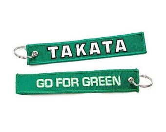 Takata Go for Green KeyChain Key Chain Tag JDM Car Racing