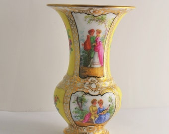 Dresden Germany gilded porcelain vase