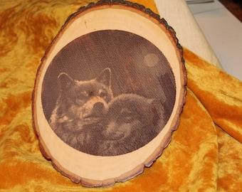 Natural Wolves Plaque