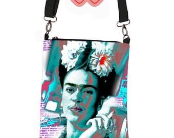 Frida Kahlo bag, Bag with Frida, Images of Frida on the bag, Photo Frida, Frida picture, Bag Frida, Frida on the bag, Bag Frida Kahlo