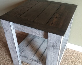 Rustic Two Tone End Table