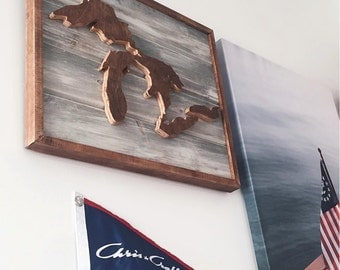 Great Lakes Wooden Wall Art