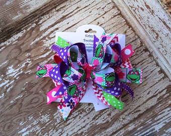 Ninja Turtle Boutique Style Hair Bow