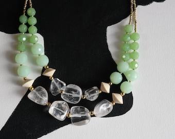 Aqua Anthro Inspire Statement Necklace