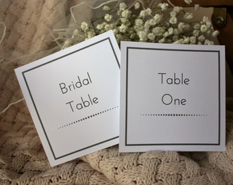 Handmade Table Numbers