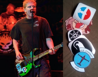 Dexter Holland guitar stickers Offspring decal signature Ibanez Full Set 5