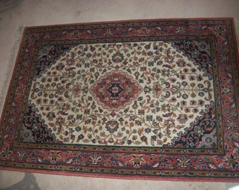 Hand-knotted oriental rug 104 x 147 cm - provides very good condition-Indien