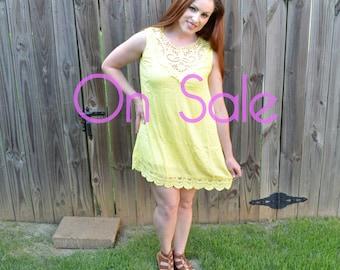 Sunny Yellow Shift Dress