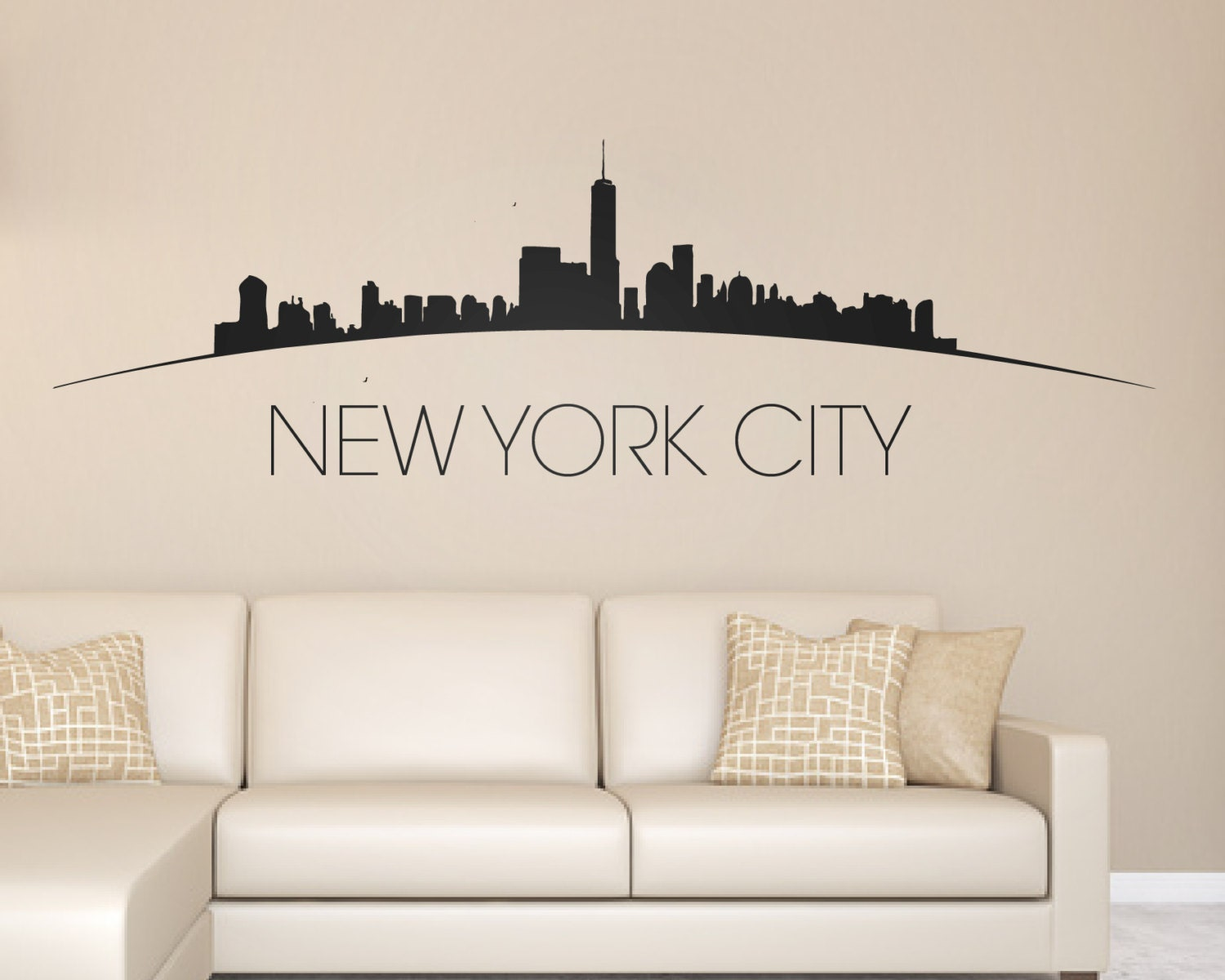 28 wall decal new york city vinyl wall decal for Sticker mural new york