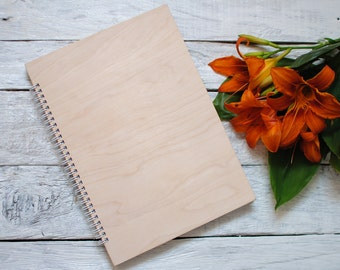Blank notebook handmade decor books custom journal cover wood office supplies travel diary