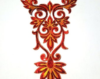 XL Sequin Motif Red