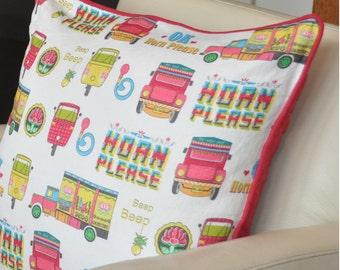 Indian Street linen cushion