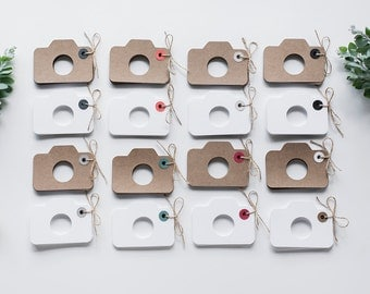 10x Camera Gift Tags + 5m Twine