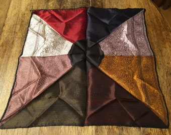 Multicolored pocket square - match any outfit. Vintage