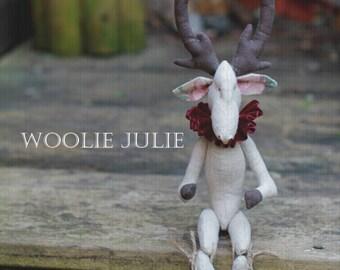 Hubert the moose. Ooak plush, textile doll