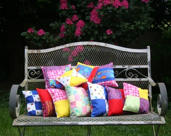 Spring Flowers Patchwork Pillows