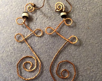 Hammered Copper Curls