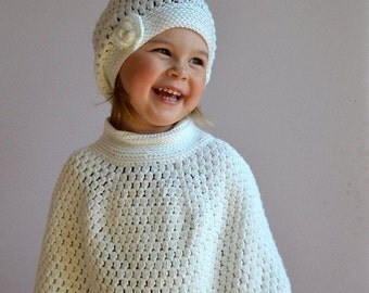 Girl's Hat and Poncho set