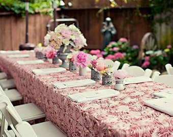 Custom Made Wedding Cake Table Head Table Tablecloth Aqua