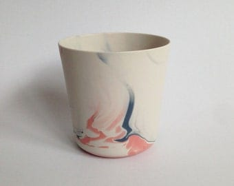 grey-pink-white porcelain vessel
