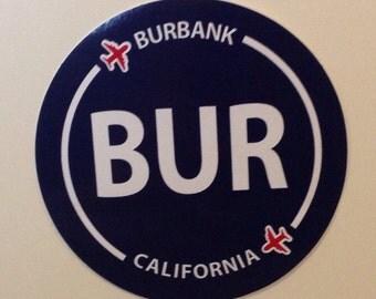 Burbank BUR California Souvenir Airport Sticker