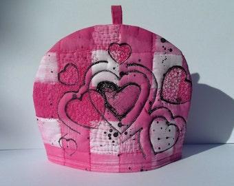 Pink Heart Tea Cosy