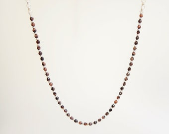 SET designer necklace & earrings with Tiger eye piece 925 sterling silver