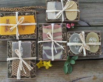 Choose your own soap set / All Natural Handcrafted Soaps / Soap Gift Set