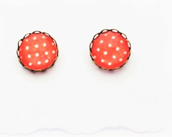 Handmade Polka Dot Stud Earrings
